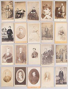 FOTOGRAFIER, 20 st, Finland, 1860-80-tal.