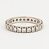 Full eternity ring, 18k white gold with 24 diamonds approx. 1.20 cts.