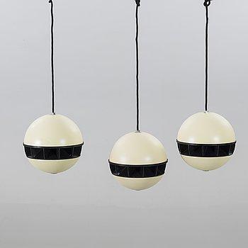 "HÖGTALARE, tre st, TOA PA System, ""Pendent Ball Speakers BS-367"", Kobe, Japan, 1970-tal."