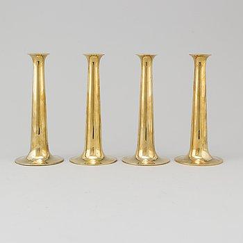 HANS BOLLING, ljusstakar, 4 st, mässing, Torben Ørskov & Co, Danmark.