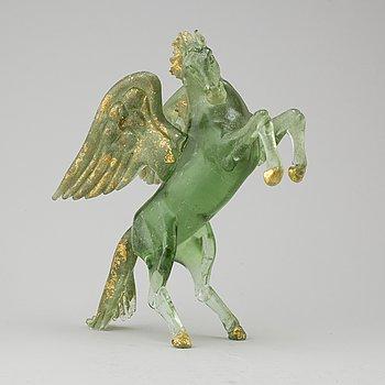 PINO SIGNORETTO, skulptur, glas, Murano, Italien, signerad.