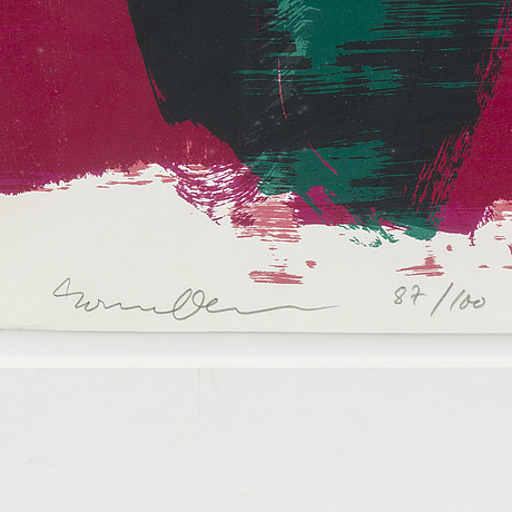Rainer fetting, silkscreen, signed, numbered 87/100 and dated -92.