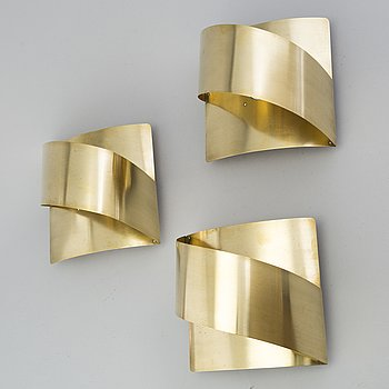 PETER CELSING, three pairs of wall lights, Fagerhult.