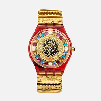 "SWATCH, armbandsur, ""Xmas by Xtian Lax"", Christian Lacroix for SWATCH, 1994."