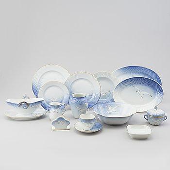 A 69 piece of porcelain dinner service by BIng & Gröndahl, Denmark.