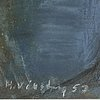 Hans viksten, pastel, signed and dated -53.