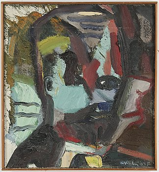 HANS VIKSTEN, Oil on canvas, signed and dated -65.