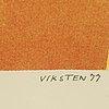 Hans viksten, llithographs in colour, 3, signed