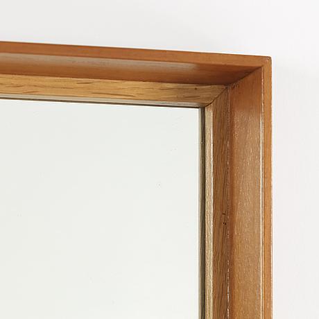 A teak and oak framed mirror, Fröseke, AB Nybrofabriken, 1950\'s/60\'s ...