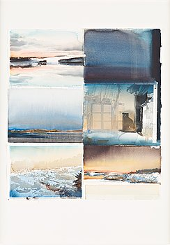 "112. LARS LERIN, ""Collage 1""."