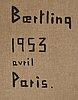 """Olle baertling, """"dynamique parisienne"""""""