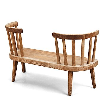 "310. Axel Einar Hjorth, an ""Utö"" stained pine sofa, Nordiska Kompaniet, Sweden, 1930's."