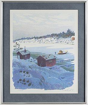 ROLAND SVENSSON, färglitografi, signerad och numrerad 219/250.