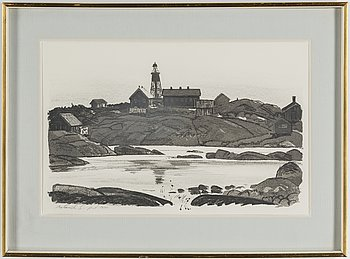 ROLAND SVENSSON, litografi, signerad och numerad p.t.