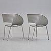 "Ron arad, ron arad, a pair of ""tom vac"" aluminium chairs, ron arad associates, 500 pcs edition, 1997."