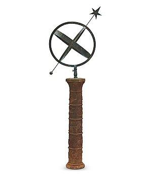 240. JOHANNES DAHL, a cast iron column with sundial, by Näfveqvarns Bruk, Sweden.