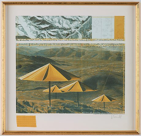"""Christo & jeanne-claude, """"the umbrellas (joint project for japan and usa)""""."""