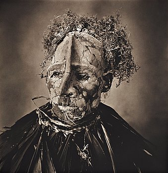 """269. Irving Penn, """"Man with Pink Face, New Guinea, 1970""""."""