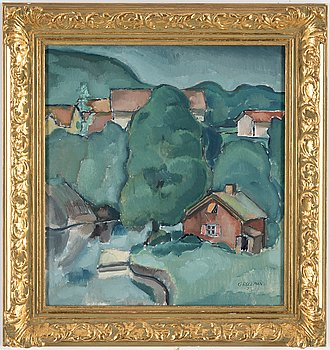 GUSTAF BELLMAN, olja på duk, signerad och daterad 1923.