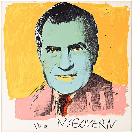 """Andy warhol, """"vote mcgovern""""."""