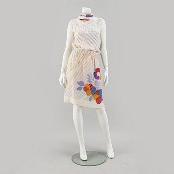 LANVIN, tvådelad klänning.