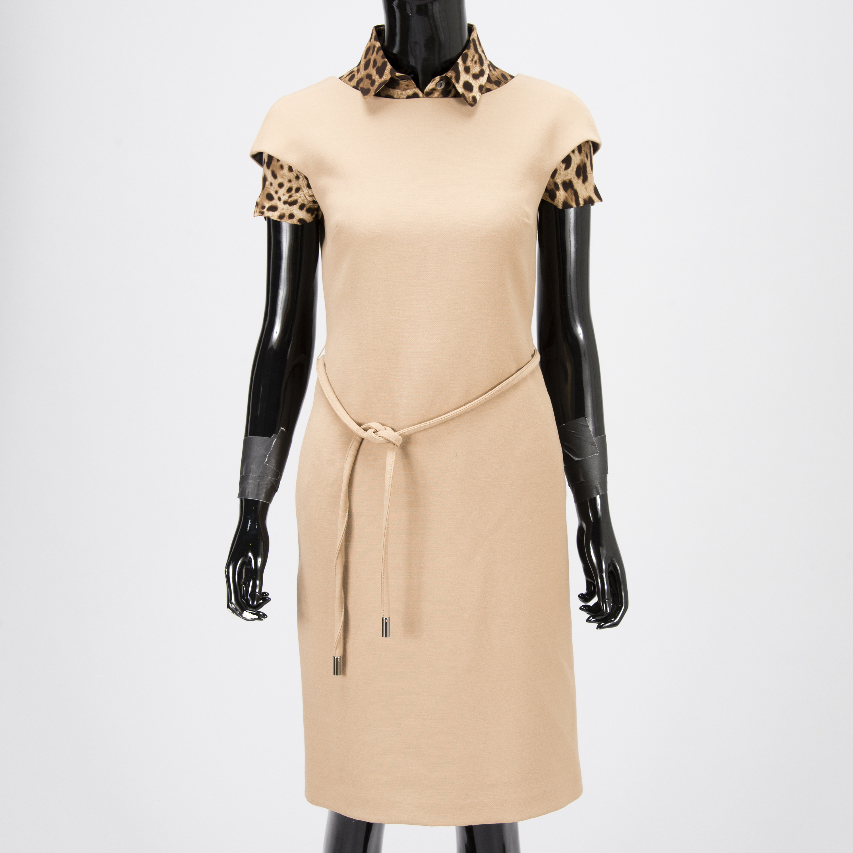 0818fb24b84f9a DOLCE   GABBANA Wool Dress with Silk Blouse in size 40(IT). - Bukowskis