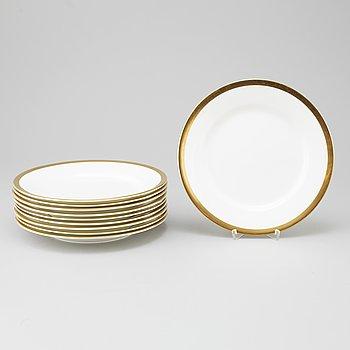 KARIN BJÖRQUIST, a set of 10 Nobel-plates, Rörstrand.