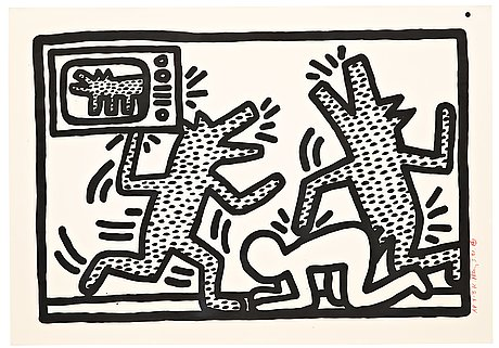 "Keith haring, ""untitled""."