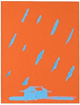 JUAN NAVARRO BALDEWEG, acrylic on paper, signed NB.