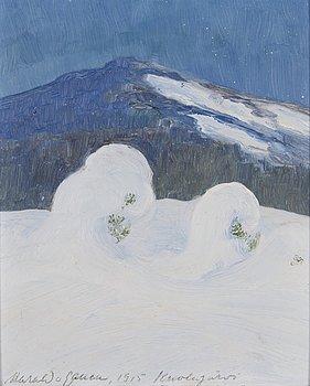 HARALD GALLEN, öljy levylle, signeerattu ja päivätty 1915 Kuolajärvi.