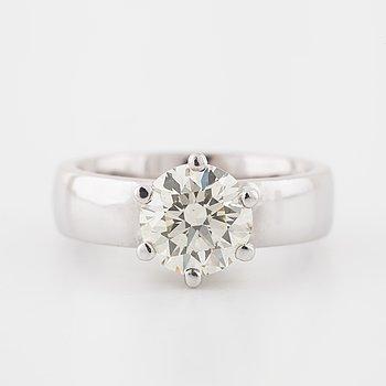 A brilliant cut diamond ring by Guldsmedsmästaren Göteborg, 2016.