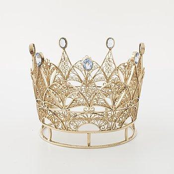 A bridal crown by Olav Kristensen, Göteborg, 1939.
