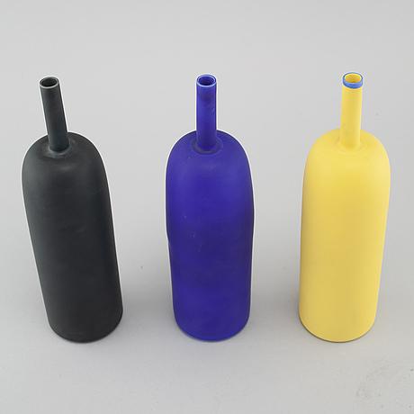 """Inger persson, vaser, 3 st, porslin, ur """"pro arte""""-serien, provmodell, osignerade."""