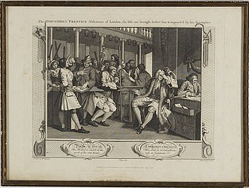 WILLIAM HOGARTH, after, engravings, 2, around 1800.