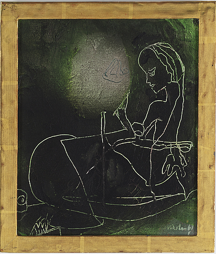 Panel, 10, signed and dated  71