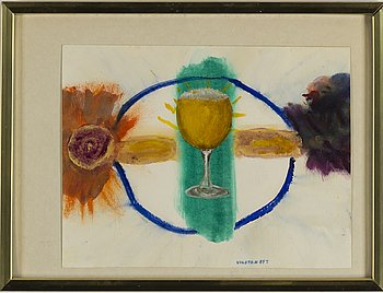 HANS VIKSTEN, watercolour, signed and dated -84.