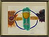 Hans viksten, watercolour, signed and dated  84