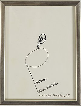 HANS VIKSTEN, Ink, signed and dated -85.