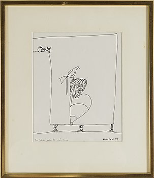 HANS VIKSTEN, Ink, signed and dated -77.