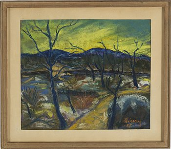 HANS VIKSTEN, pastel, signed and dated -55.
