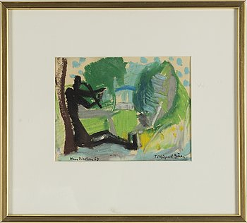 HANS VIKSTEN, pastel, signed and dated -57.