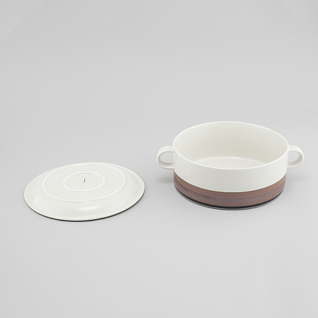 Inger persson, ten pieces of stoneware tableware, not signed.