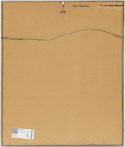 Beck & jung, original work, relief, signed holger bäckström and bo ljungberg on verso.