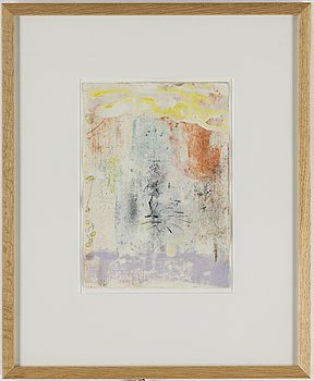 MICHAEL BYRON, Mixed media on paper, signed and dated -89 verso.