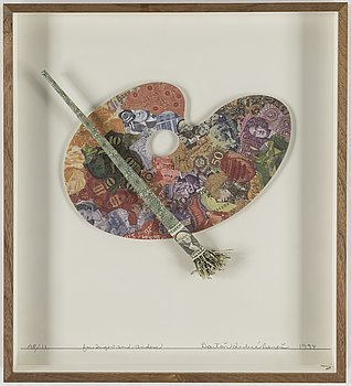 BARTON LIDICE BENES, Multiple, collage, signed AP/11. Dated 1994.