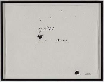 MARIANNA UUTINEN, Ink drawing, signed and dated 1992 verso.