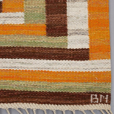 "Barbro nilsson, matta, ""ostia orange"", rölakan, ca 339,5 x 245 cm, signerad ab mmf bn"