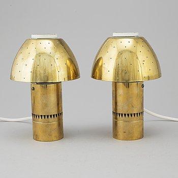 HANS-AGNE JAKOBSSON, bordslampor, ett par, Markaryd, 1900-talets tredje kvartal.