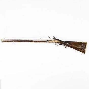 A Flintlock short rifle, circa 1780.