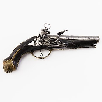 A Spanish miquelet flintlock pistol, late 18th/early 19th Century..